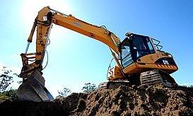 burnett plumbing excavator