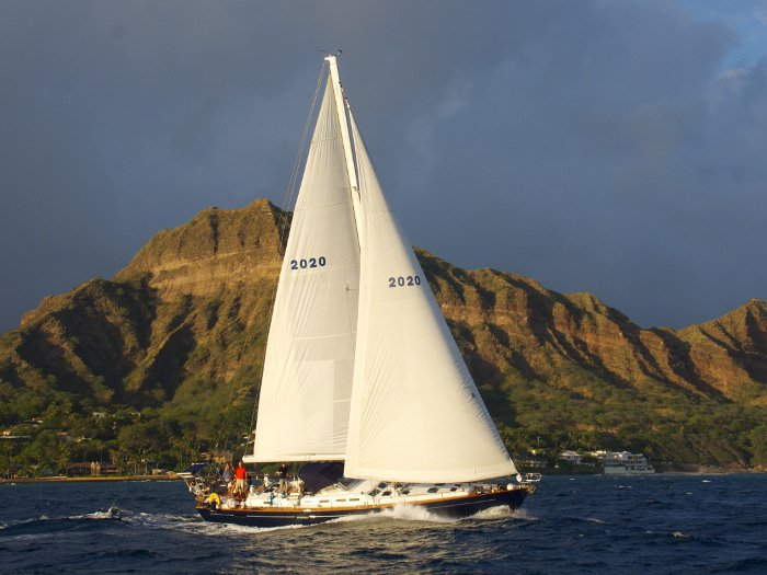View of a sail in Honolulu