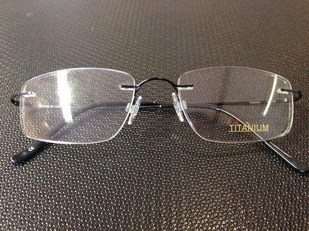 reading glasses with black frame