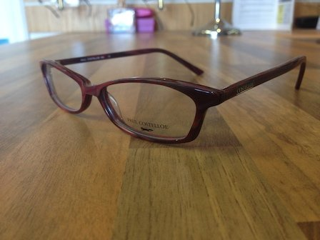 brown coloured reading glasses
