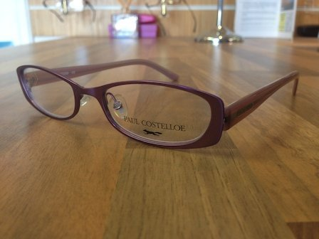 maroon coloured reading glasses