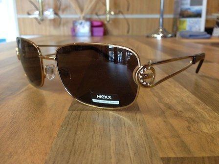 golden frame mexx sunglasses