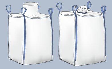sacchi in polipropilene a bocca aperta