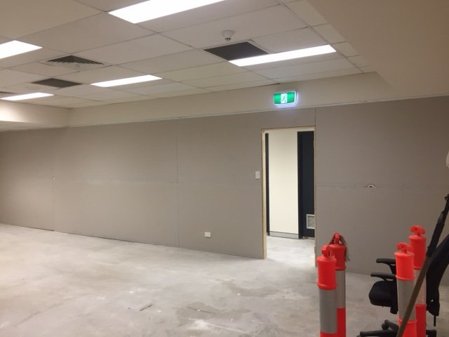 Example of finished commercial or residential plastering services in Brisbane