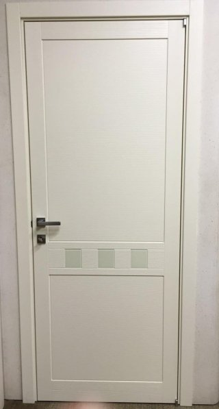 Brushed white wood door