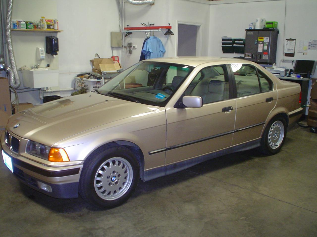 This is low mileage and very clean 6 series.I had this in for service and the customer had just bought it from a BMW collector in NH.It is a Metallic Gold color.Not many of them around up here in this condition.