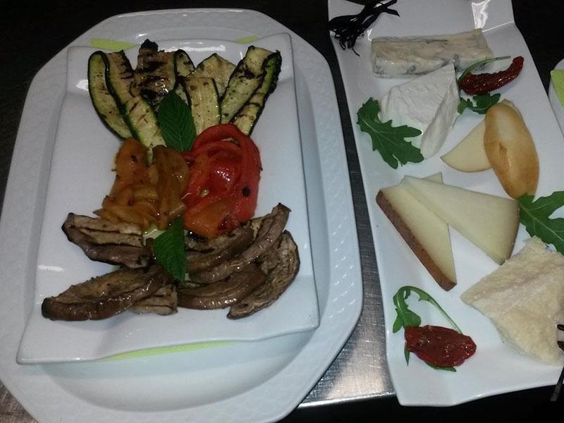 verdure e formaggi
