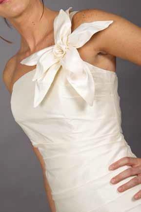 particolare vestito da sposa