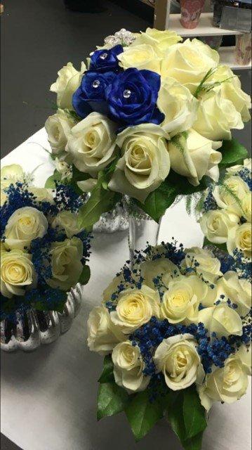wedding table flower designs