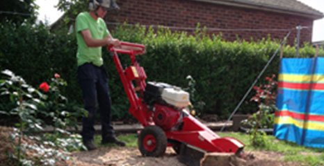 stump grinding equipment
