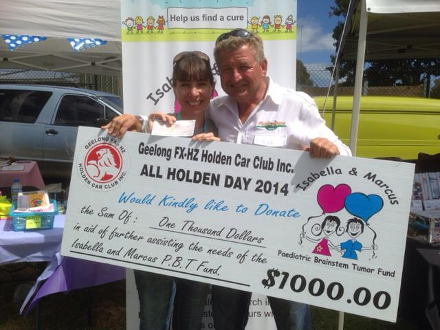 Customer donating at All Holden Day 2014