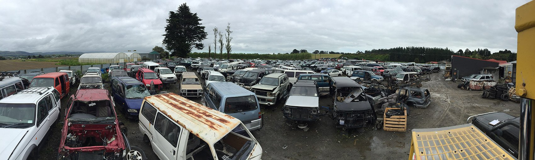 Used cars parked for selling