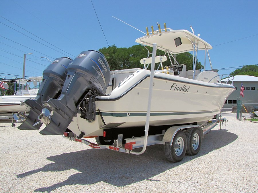 1996 28' Pursuit 2870 Walkaround powered by Twin 2004 Yamaha 225 Four Strokes
