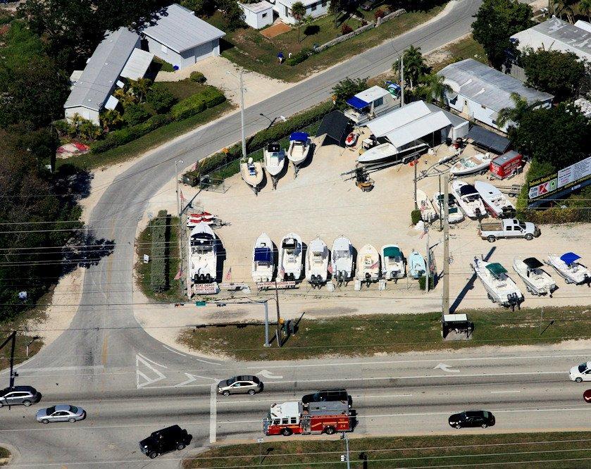 Boat Depot Yard Aerial View - Key Largo, FL