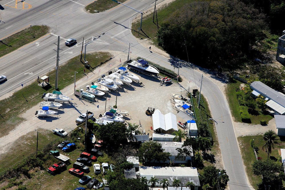 Boat Depot Yard Aerial View - Key Largo, FL