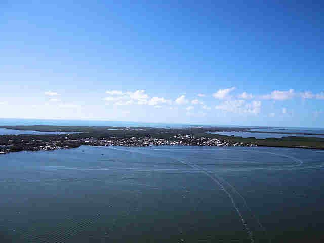 Key Largo, FL from a Parasail