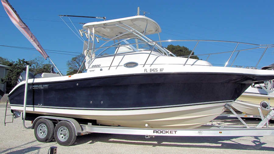 2008 Century 2600 WA powered by Twin Yamaha 150 Four Strokes