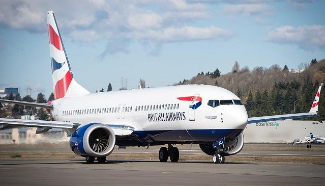 Comair 737 Max arrives in British Airways livery