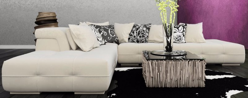 White and grey seating furniture