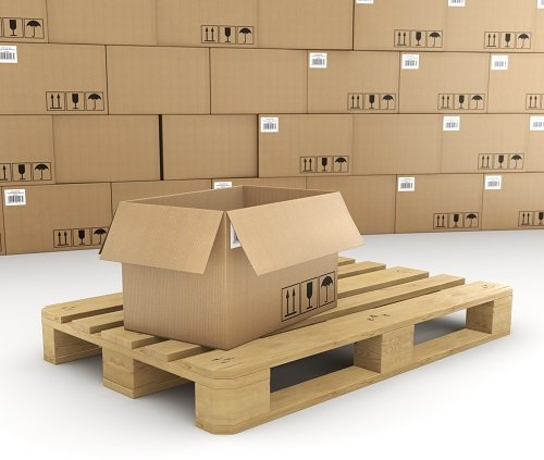scatole per imballaggio e un pallet