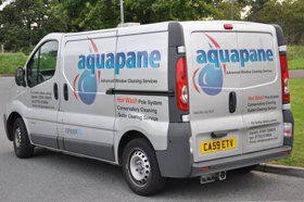 High-quality window cleaning service - Hengoed - Aquapane - Company Van