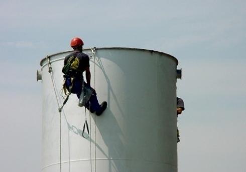 Lavori di manutenzione ad alta quota