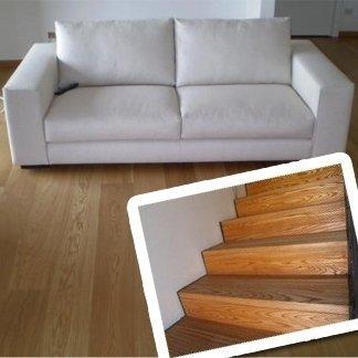 pavimento di casa e scale in parquet