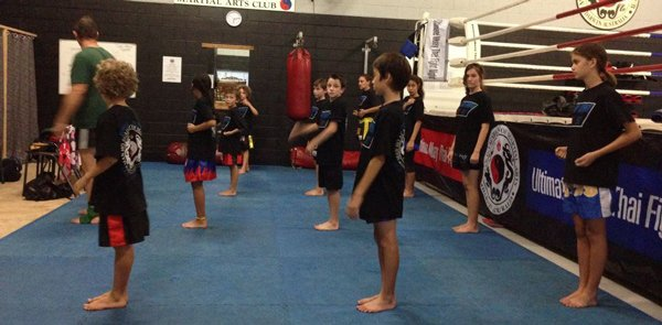 junior martial arts class in formation