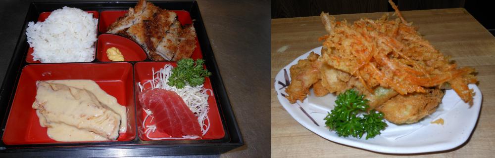 Japanese dining items on plates in Wailuku, HI