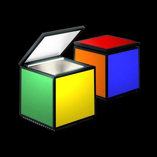 cubo led colore