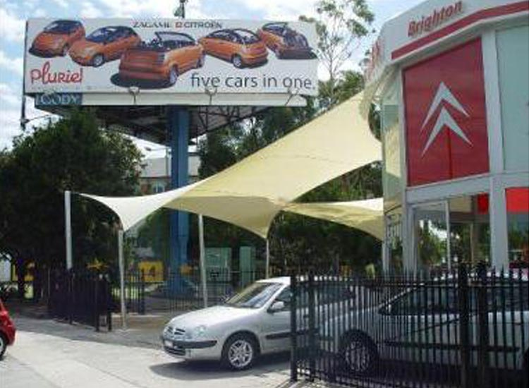 background commercial car shade