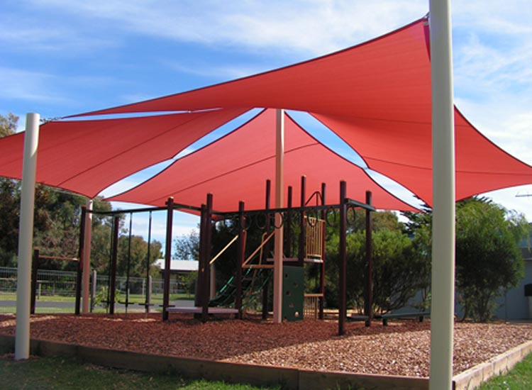 background residential shade red