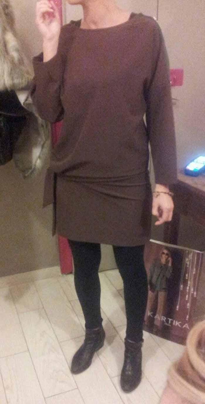 maglia lunga donna con leggings