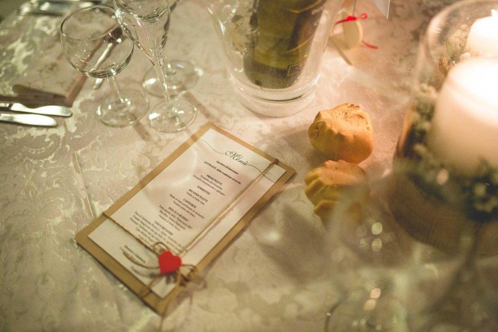 menu per matrimoni