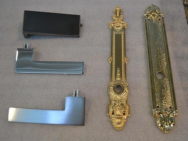 Finiture su serrature in ottone