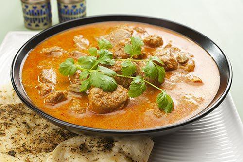 Delicious indian dish served at Nawaab Khan