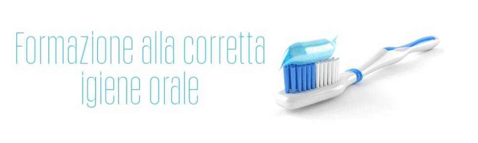 Formazione alla corretta igiene orale
