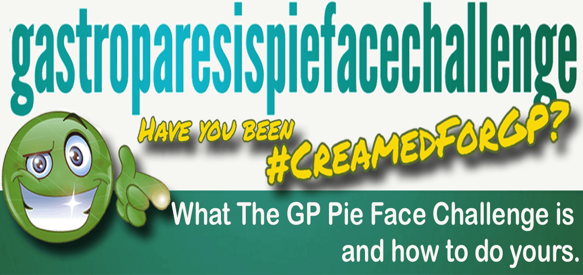 The header image for the #YSU Spotlight 'Have you been #CreamedForGp?' feature, across the green #ysuSmiley, who's smiling and pointing at you. Also the words 'What the GP Pie Face Challenge is and how to do yours' on it'.