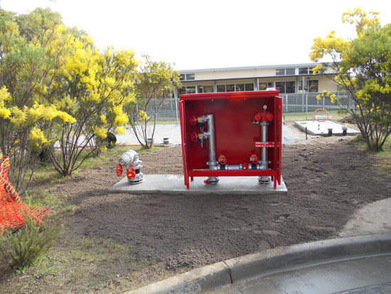 Installed fire tanks and pump at the client site