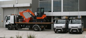 Transport vehicle and machine