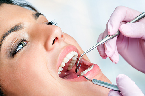 Patient getting dental treatment at a great dental clinic in West Chester, OH