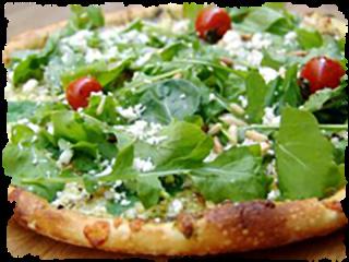 pizza con rucola e salame