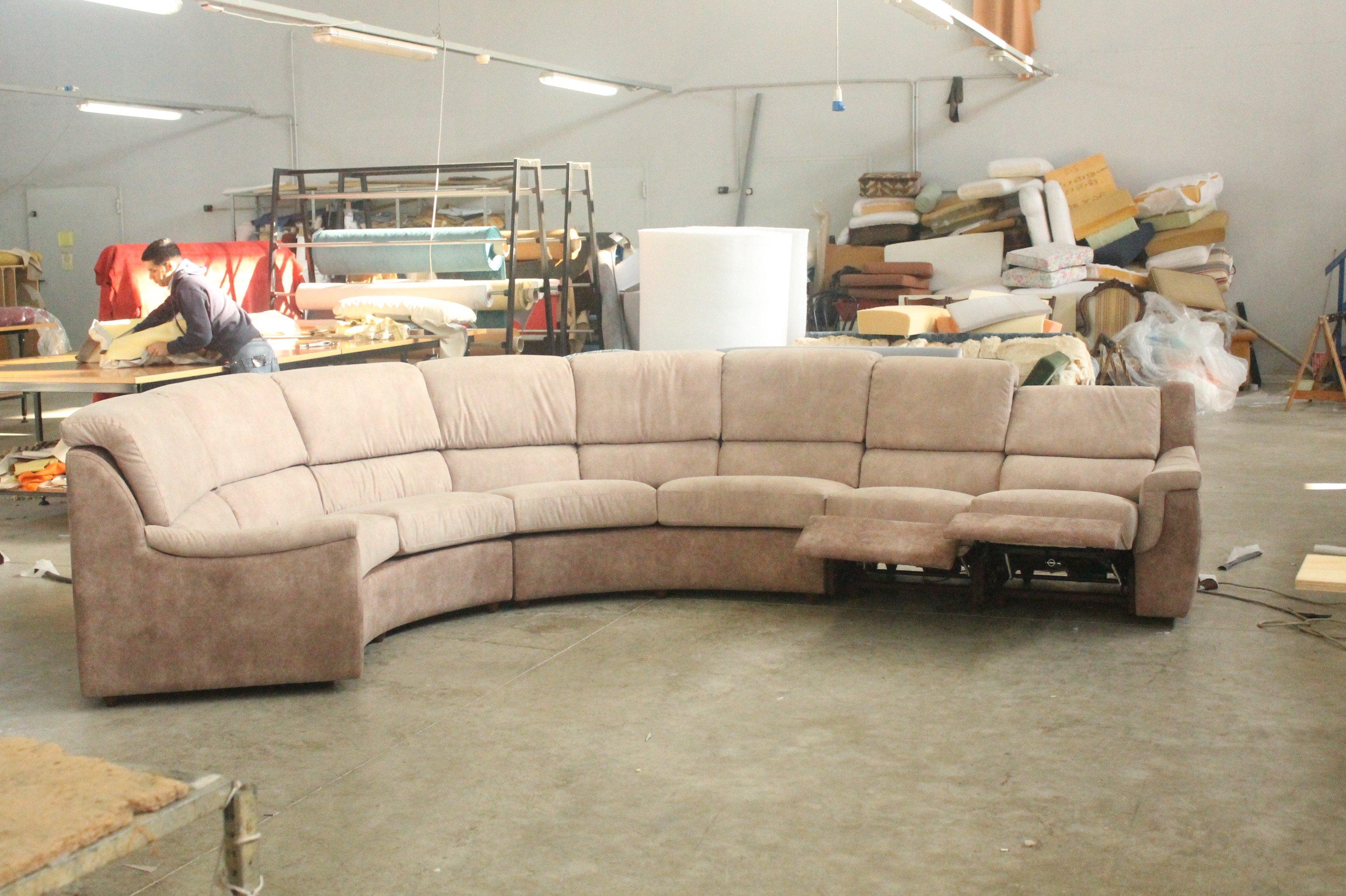 Divano angolare con sedili reclinabili