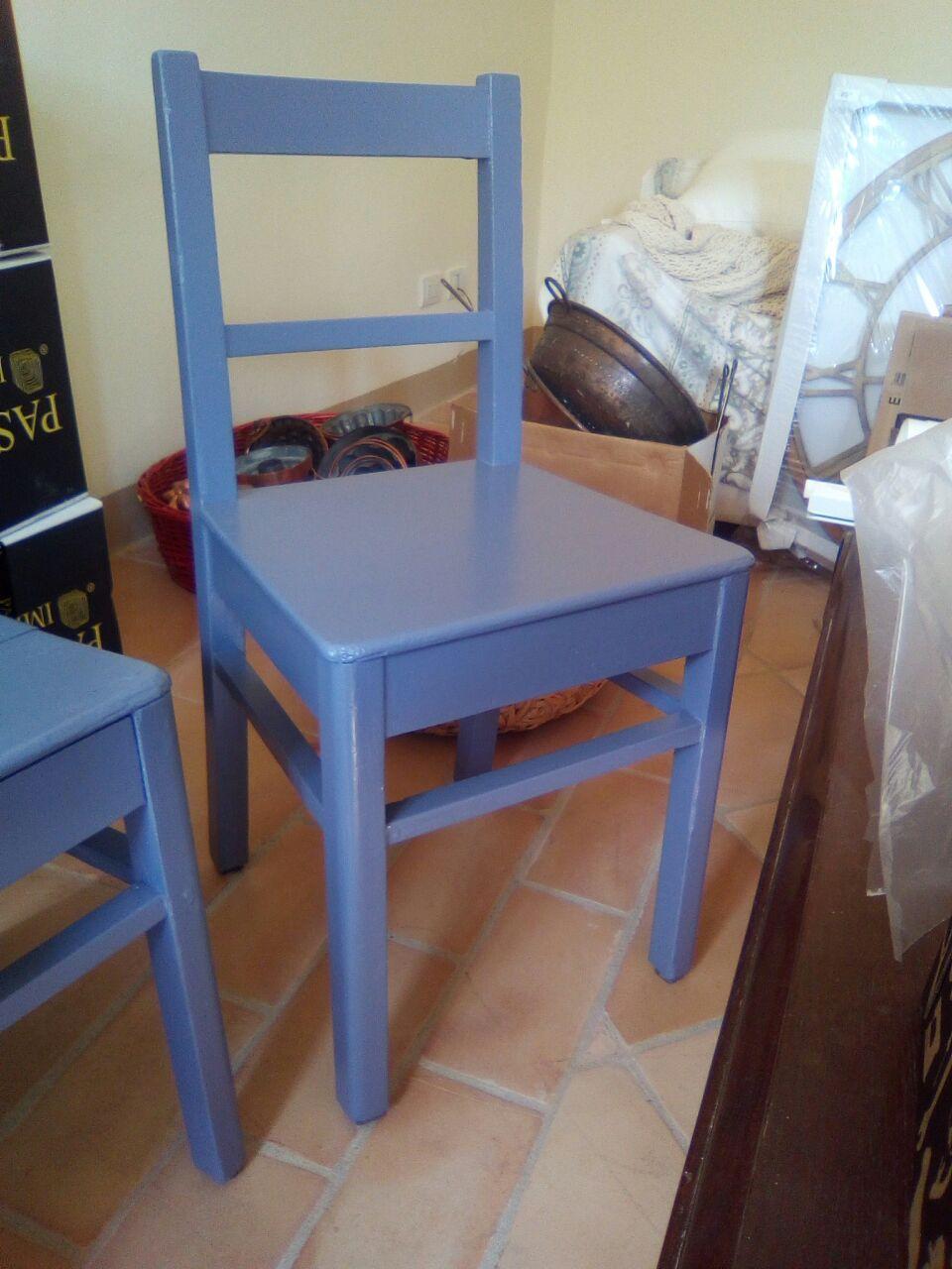 sedia pitturata