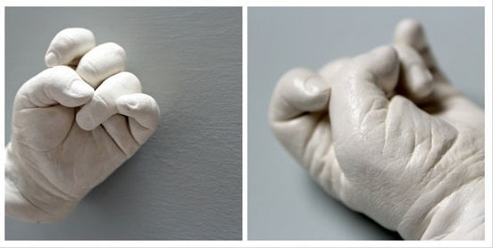 Baby 3D hand casts