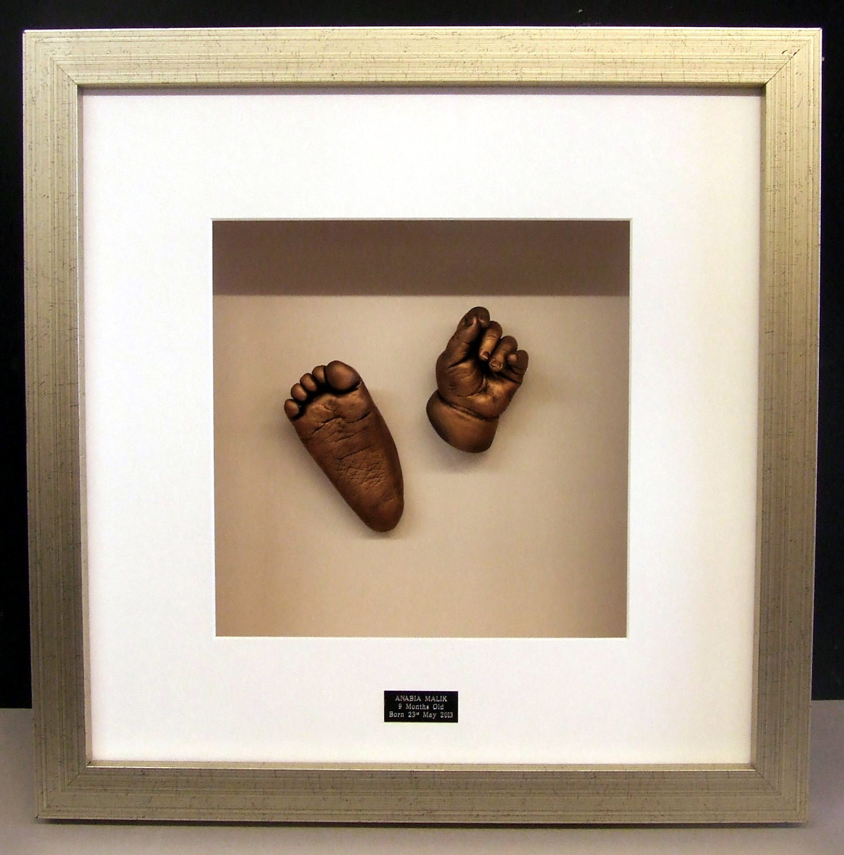 A frame of foot and palm
