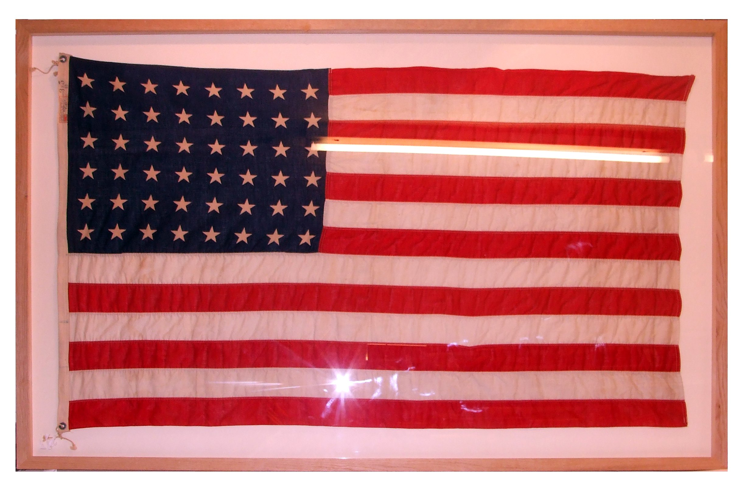 A frame of a flag