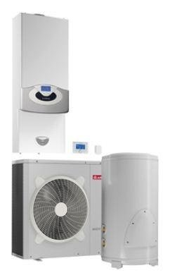 Caldaia a condensazione + pompa di calore