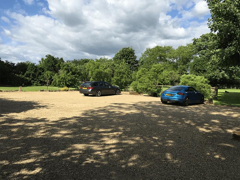 open car park