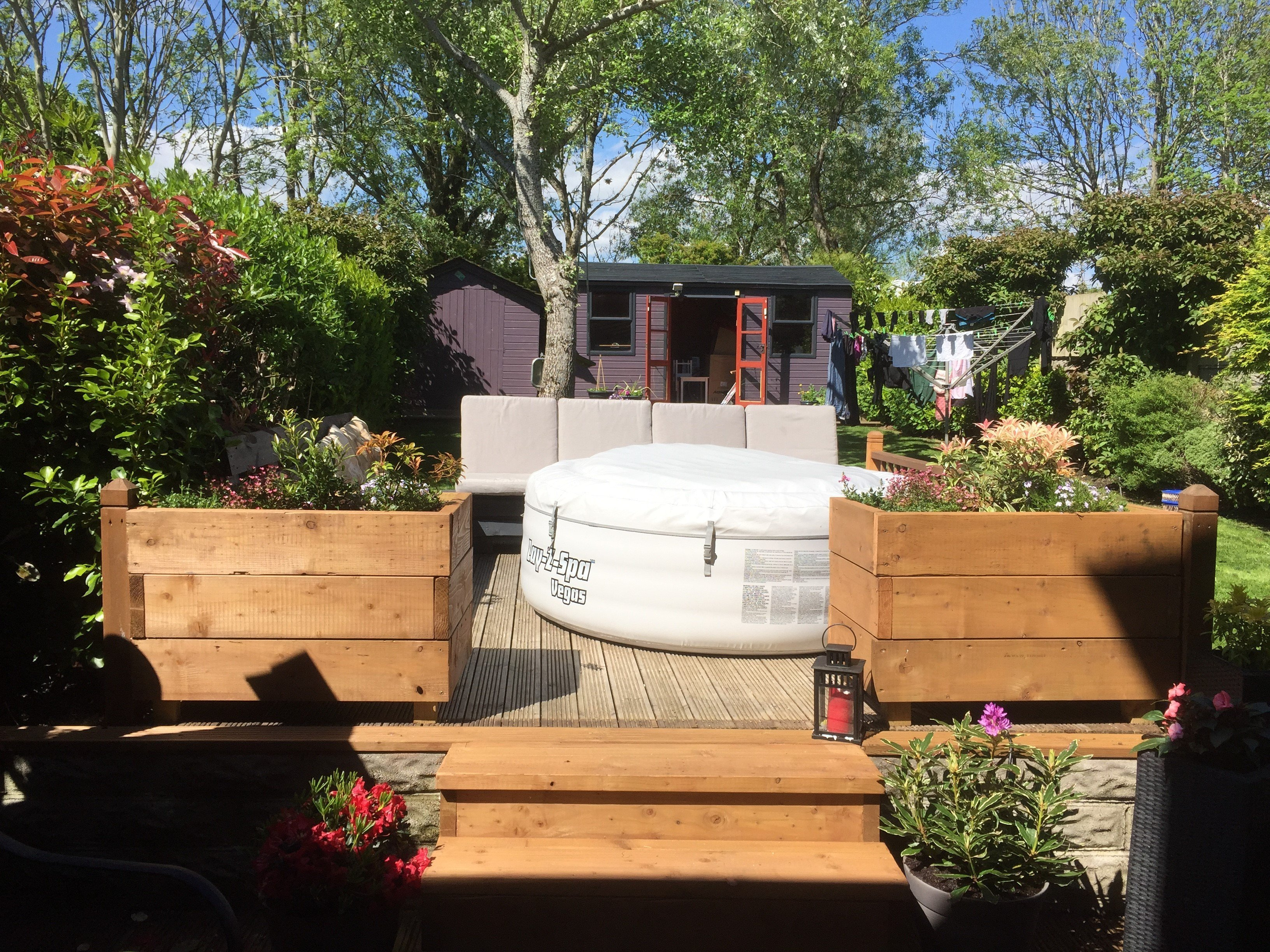 A decking at home